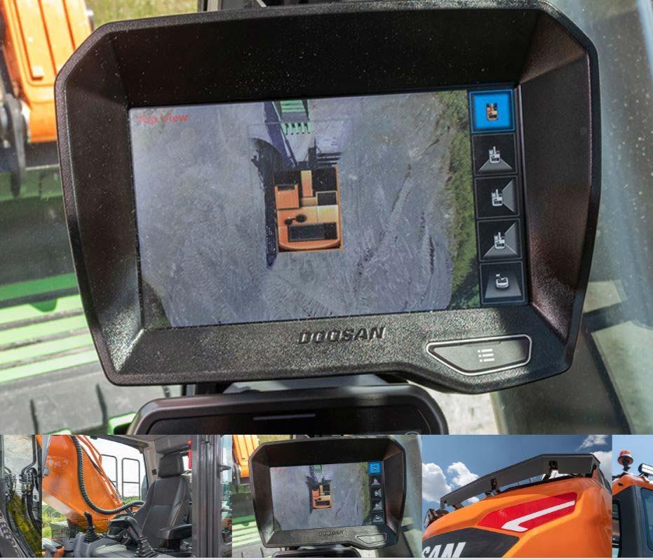 Camera video 360 grade pentru excavatorul Doosan 36 tone