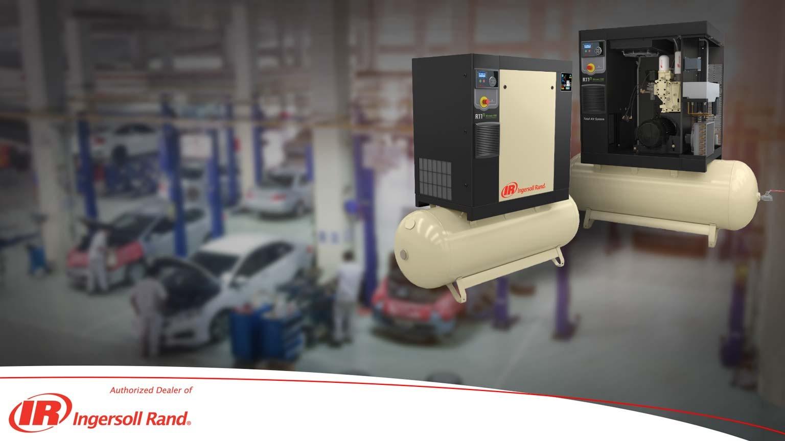 Compresor de aer cu surub pentru service-uri auto Ingersoll Rand