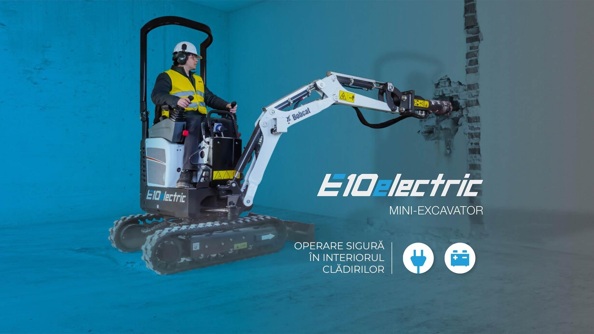 Excavator compact electric bobcat