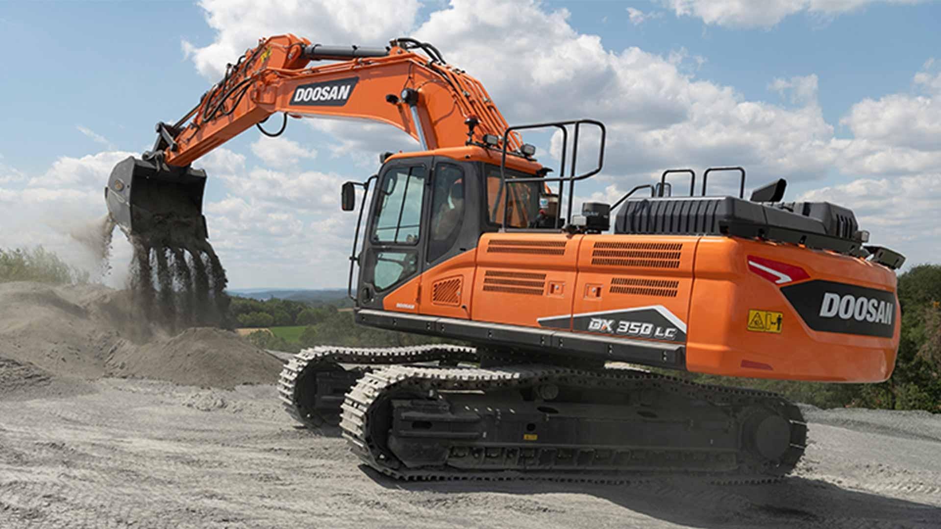 excavator pe senile 36 tone doosan dx350lc 7