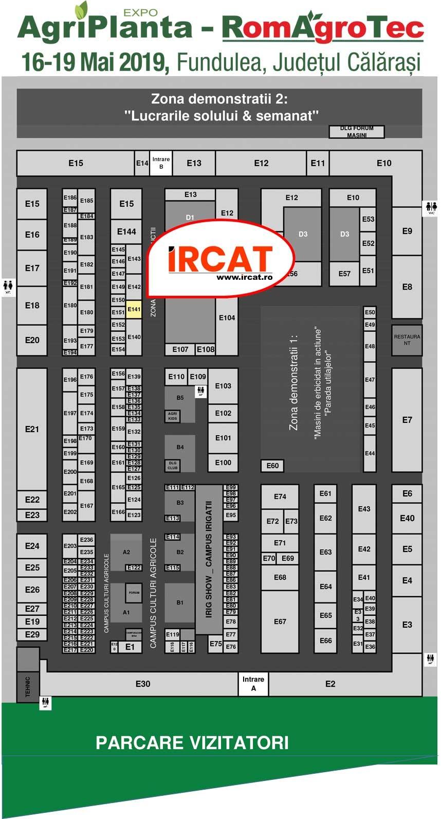 Harta targ Agriplanta 2019 - Stand Ircat E141
