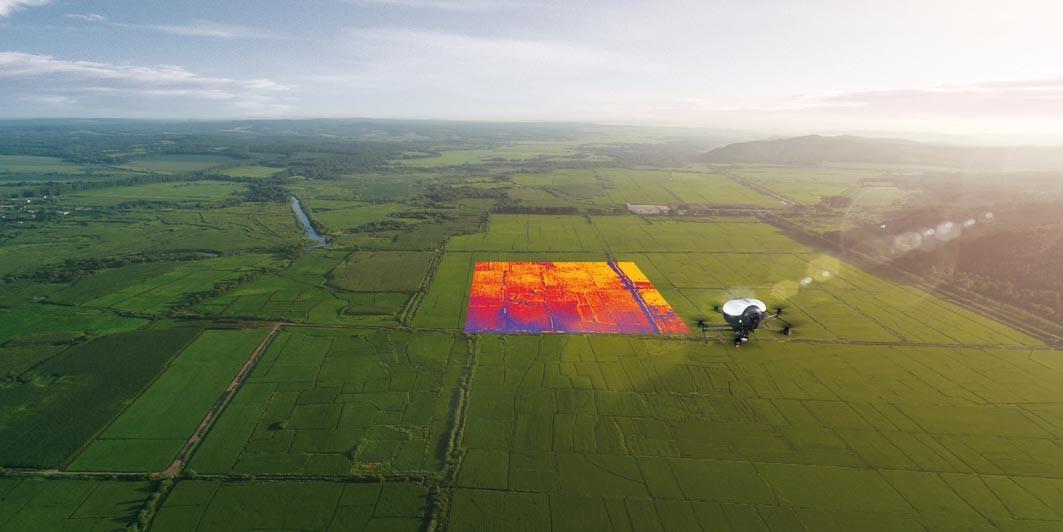 Administrare terenuri agricole cu drona Doosan