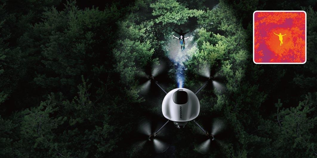 Operatiuni de salvare cu drona Doosan