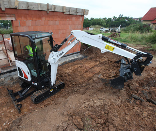 Mini excavator compact Bobcat