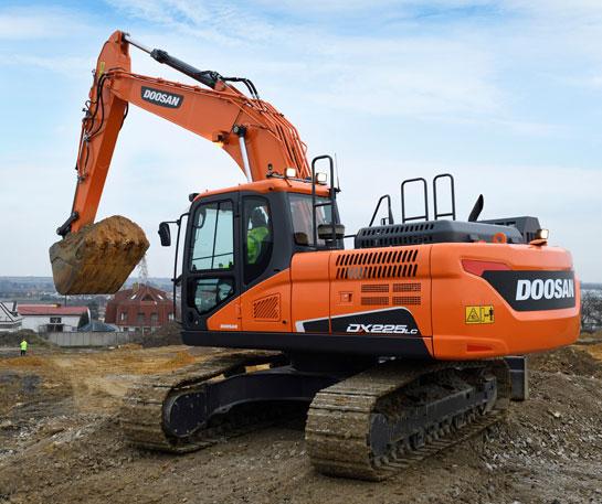 Excavator senile Doosan DX225LC-5 utilaj constructii ircat