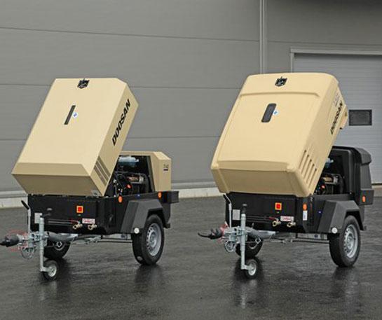 Motocompresor aer portabil Doosan echipamente ircat