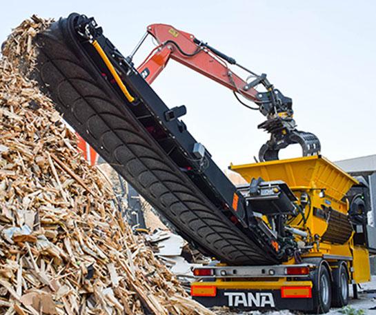 Tocator materiale lemnoase Tana Shark utilaje ircat